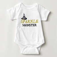 Baby Halloween Bodysuit Sparkle Monster