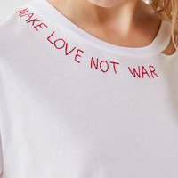 Project Social T Neck Script Tee   Urban Outfitters