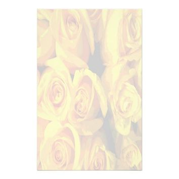 Misty Yellow Roses Stationery