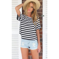 Backless Sexy Loose Casual T-shirt Women Fashion Short Sleeve Summer Tops
