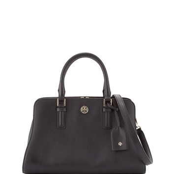 Robinson Curved Satchel Bag, Black - Tory Burch