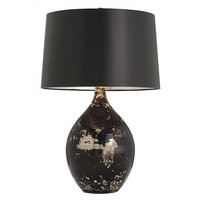 Arteriors Home Flynn Mercury/Black Reactive Glass Table Lamp - Arteriors Home 42780-523