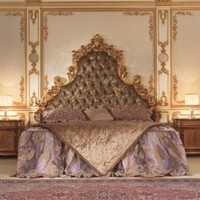 Italian Capitone Bedroom in Baroque Style - Top and Best Classic Furniture and Classical interior Design Italian Companies