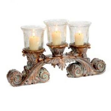 Crackle Glass 3-Candle Runner | Kirkland's