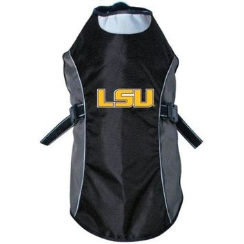 PEAPB5F LSU Tigers Water Resistant Reflective Pet Jacket