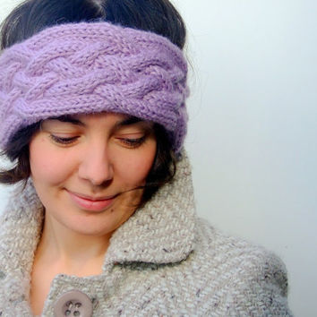 Knit headband / ear warmer  alpaca wool and acrylic by CozySeason
