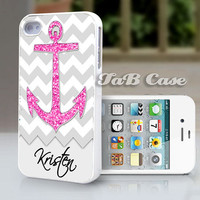 iPhone 5 or iPhone 4 Case  Personalized  Nautical by TaBCase