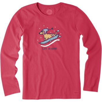 Women's Rocket Sled Long Sleeve Crusher Tee