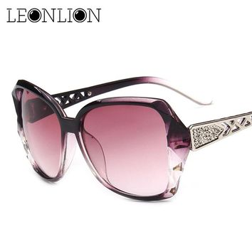 LeonLion 2017 Vintage Big Frame Sunglasses Women Brand Designer Gradient Lens Driving Sun glasses UV400 Oculos De Sol Feminino