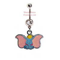 Disney Dumbo Belly Ring. Authentic Charm on Your Choice of Color! Quality at a reasonable price!