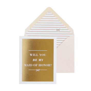 The Bow Maid of Honor Card