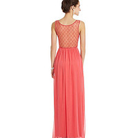 Jodi Kristopher V-Neck Cage-Back Gown | Dillards.com
