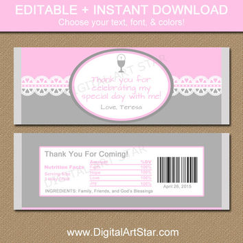 First Communion Chocolate Bar Wrappers - Printable Candy Wrappers - Catholic Party Favors Gift - First Communion Decorations - INSTANT