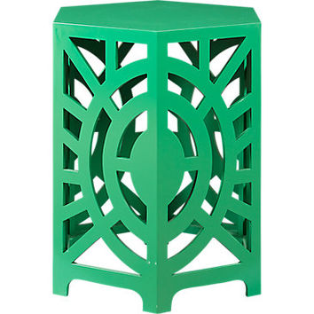 Fairy Falls Green Accent Table