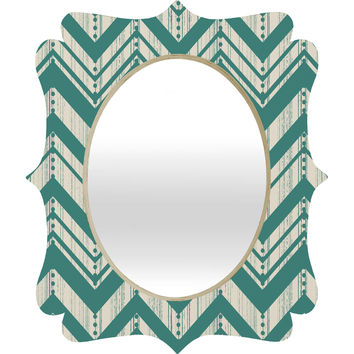 Heather Dutton Weathered Chevron Quatrefoil Mirror