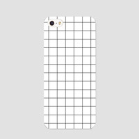 White grid phonecase