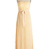 ModCloth Pastel Strapless Maxi Dream of Buttercream Dress
