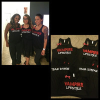 Vampire Diaries Tank - Vampire Lifestyle - Team Damon - Team Stefan -  Ruffles with Love
