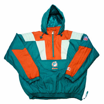Vintage 90s Miami Dolphins Starter Jacket From Vintage
