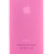 Pink Frosted Transparent Gel Case for iPhone 5 & 5s
