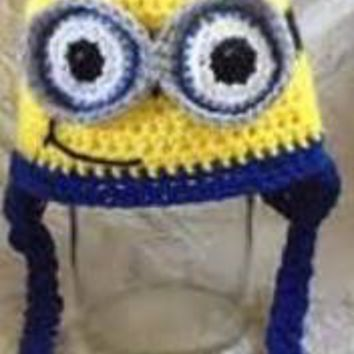 CROCHET HAT -   MINIONS - KEVIN, DAVE, PHIL