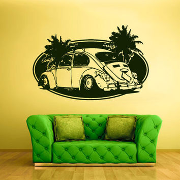 rvz1620 Wall Decal Vinyl Sticker Decals Car Auto Palm Beach Bug Slug Surf