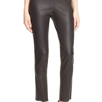Women's 10 Crosby Derek Lam Crop Leather Pants,