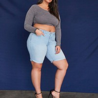Plus Size Levis Shaping Bermuda Shorts