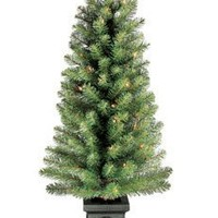 Celebrations Prelit Tree White Lights Twinkling Potted 4' Tall 140 Tips