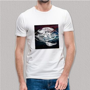 Custom Gildan Men's T-Shirt Disney Little Mermaid Skelleton