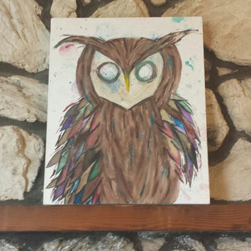 Watercolor Painting- Owl (16x20)