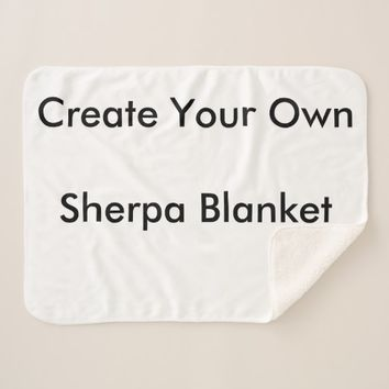 Create Your Own Custom Sherpa Blanket