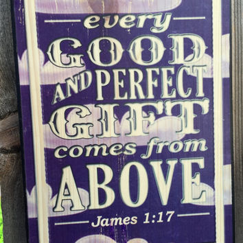 Every Good and Perfect Gift - Butterfly Theme Girls' Nursery Decor - James 1:17