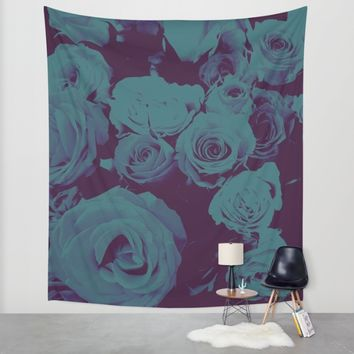Mother May I -blue- Wall Tapestry by Ducky B