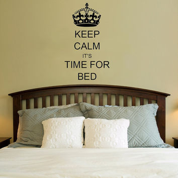 Keep Calm it's Time For Bed Vinyl Wall Decal Sticker Art