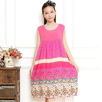 New arrival spring and autumn cotton women's nightgown one piece sleep dress royal o-neck sleepwear 80131