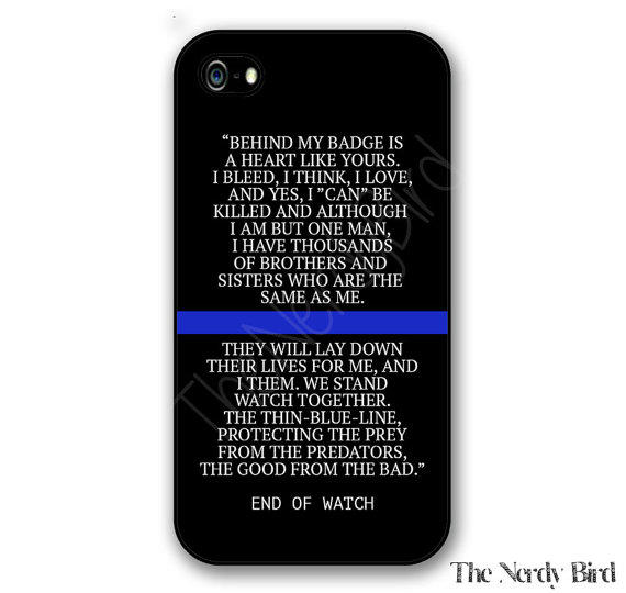 End Of Watch Quotes: Thin Blue Line End Of Watch Quote IPhone From TheNerdyBird2 On
