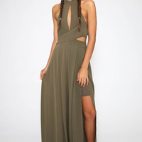 Into The Dark Jumpsuit - Khaki