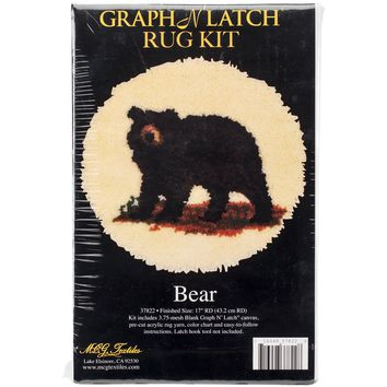 "Bear Latch Hook Kit 17"" Round"