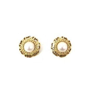 CREY3DS Christian Dior Pearl Clip-on Earrings