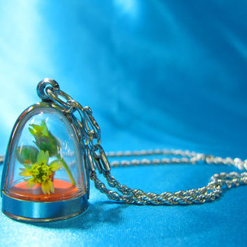 Mini Dome Pendants, Lot of 3,Supply, Empty Display Case, Terrarium Necklace, Silver Tone, Art,Craft, Mementos, Clear Locket