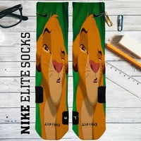 Simba The Lion King Disney Custom Nike Elite Socks