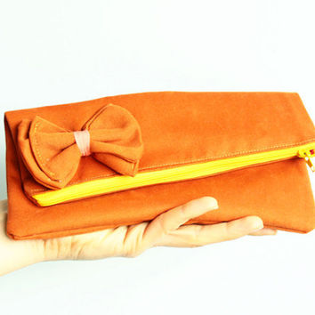 Women Handbag Purse Bow Clutch with zipper PDF Sewing Pattern