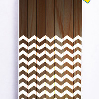 Chevron On Wood for Iphone 5C Cover Rubber Case