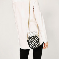 CONTRASTING PINEAPPLE CROSSBODY BAG Look+: 1 of 1