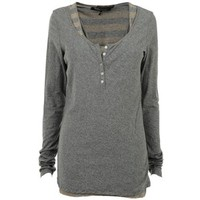 MAISON SCOTCH Jersey Double Layer Long Sleeve T-Shirt - Faulty