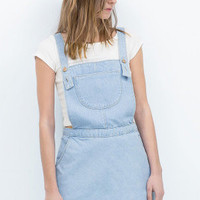 Blue Denim Overalls with Pockets