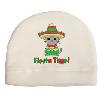 Fiesta Time - Cute Sombrero Cat Child Fleece Beanie Cap Hat by TooLoud
