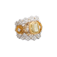 Buccellati Tulle 18K Gold Canary Diamond Ring