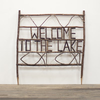 welcome to the lake twig yard sign | lake d̩cor | yard d̩cor